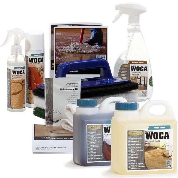 WOCA Aktions Pflegeset mit Fleckentferner und Zubehör
