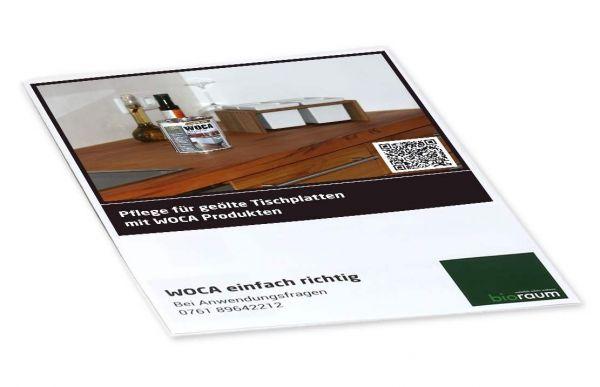 Pflegeplan für geölte Tischplatten