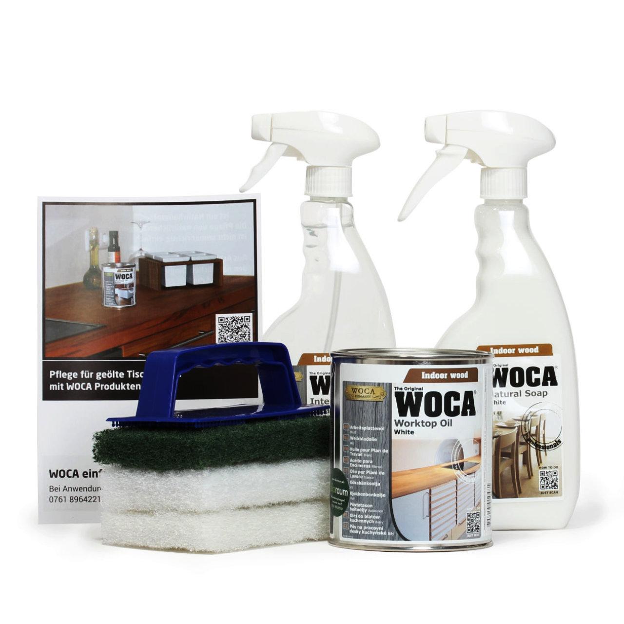 woca arbeitsplatten set wei woca shop. Black Bedroom Furniture Sets. Home Design Ideas