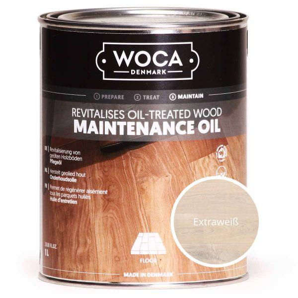 Pflegeöl extraweiß 1 Liter / WOCA maintenance oil