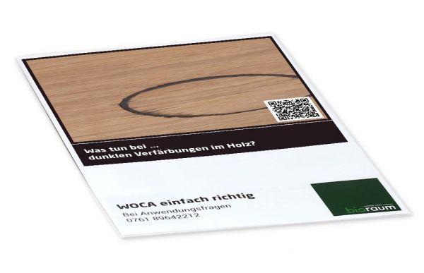 Dunkle Verfärbungen im Holz