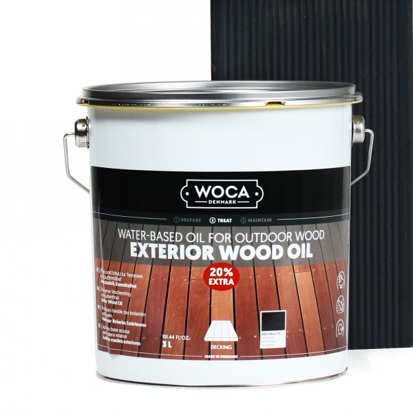 Terrassenöl Exterior Öl Anthrazit 20% extra