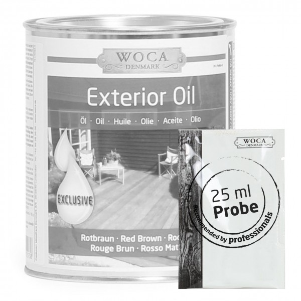 Gartenmöbel / Terrassenöl rotbraun ca. 25 ml Probe